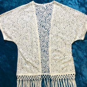 Crochet Fringed Kimono